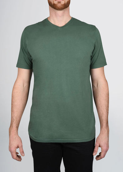 american-tall-mens-garment-dyed-v-tee-forestgreen-front