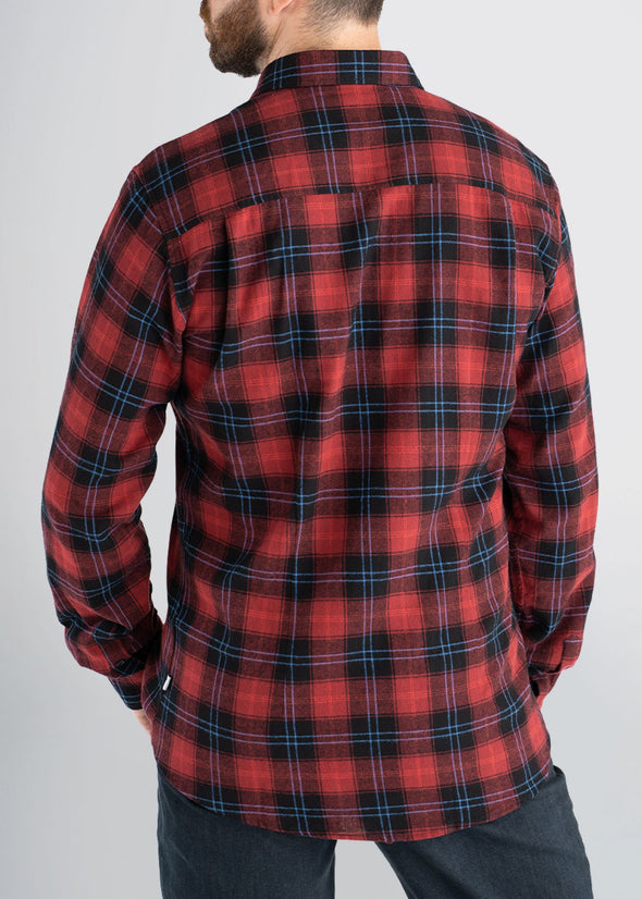american-tall-mens-lightweightflannel-cranberryplaid-back