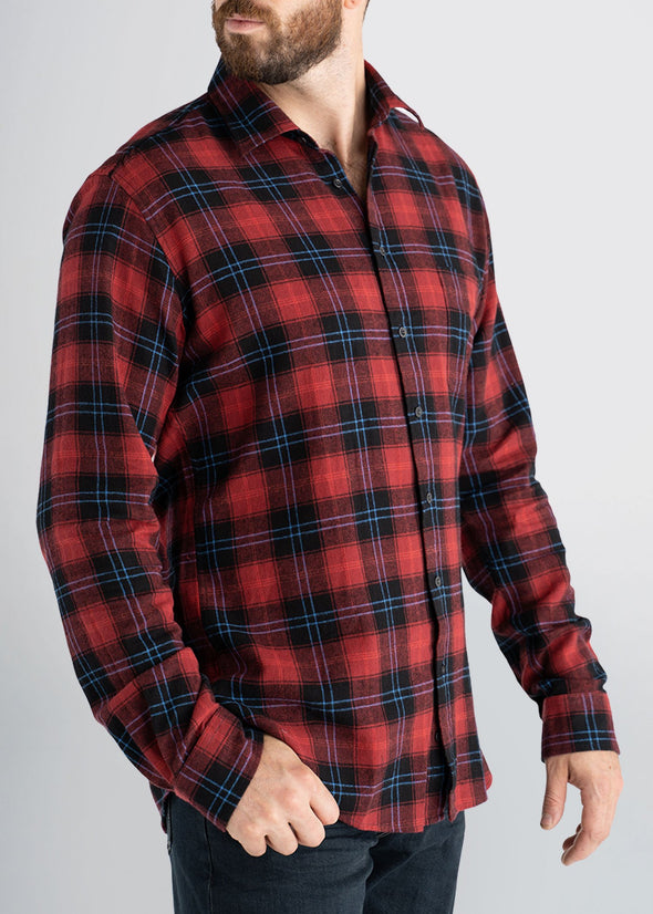 american-tall-mens-lightweightflannel-cranberryplaid-side