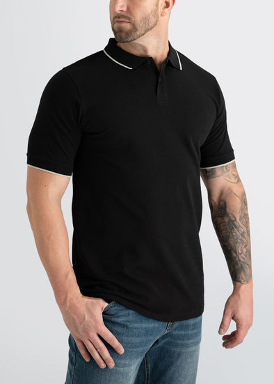 american-tall-mens-polo-black-grey-front