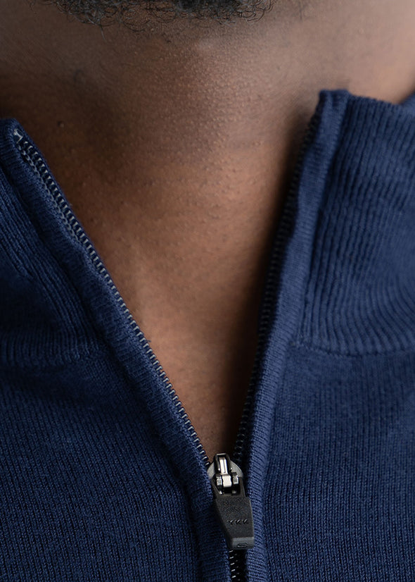 american-tall-mens-quarterzip-sweater-navy-detail