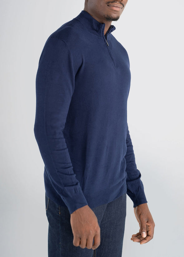 american-tall-mens-quarterzip-sweater-navy-side
