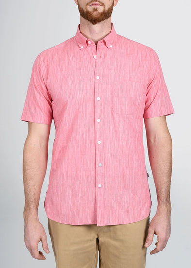 american-tall-mens-shortsleeve-coral-weave-front