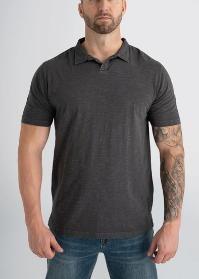 american-tall-mens-slub-polo-charcoal-front