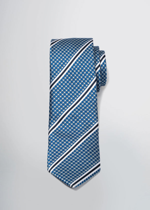 american-tall-mens-tie-blue-houndstooth-front