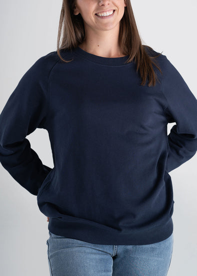 american-tall-womens-french-terry-crew-navy-front