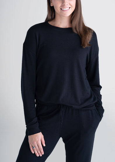 american-tall-womens-lounge-crewneck-black-front