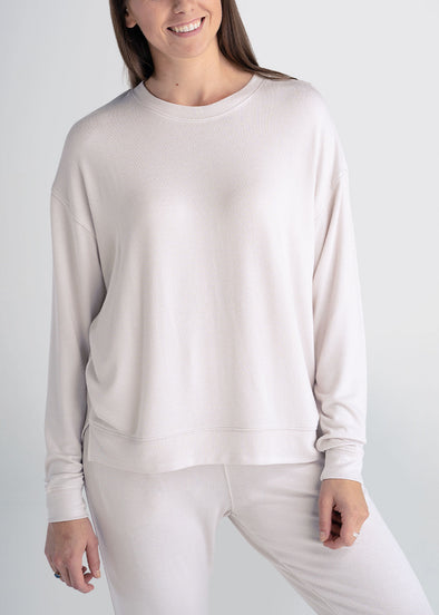 american-tall-womens-lounge-crewneck-blush-front
