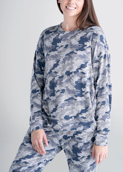 american-tall-womens-lounge-crewneck-camo-front