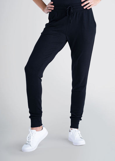 american-tall-womens-lounge-jogger-black-front