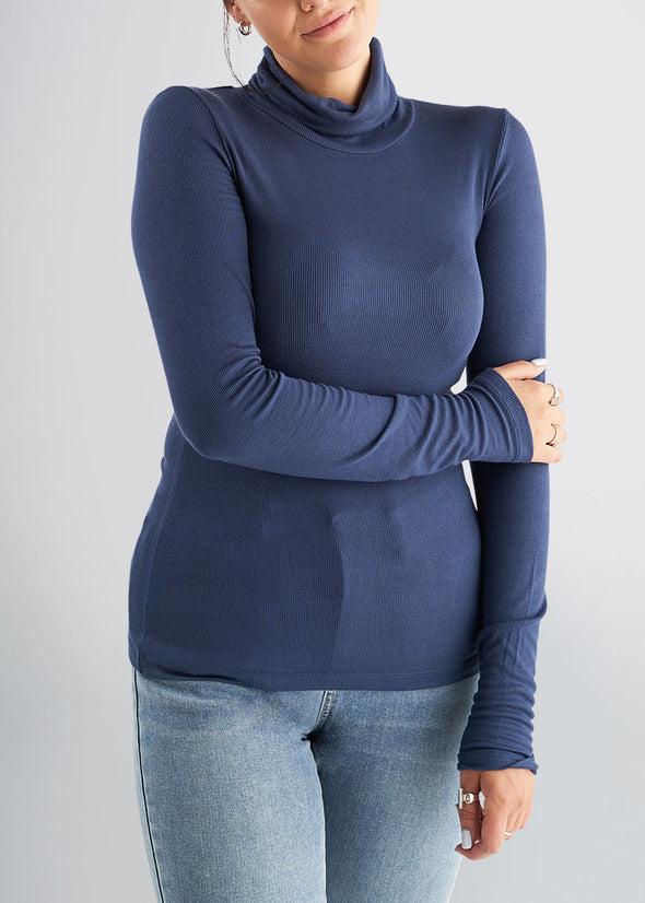 american-tall-womens-ribbed-turtleneck-navy-front