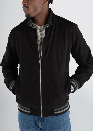 americantall-cotton-bomber-black-front-zipped