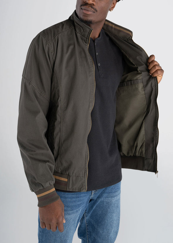 americantall-cotton-bomber-olivegreen-openjacket