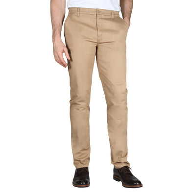 Carman TAPERED FIT Polished Chinos in Desert Sand