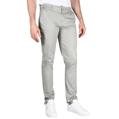 Carman TAPERED FIT Polished Chinos in Stone