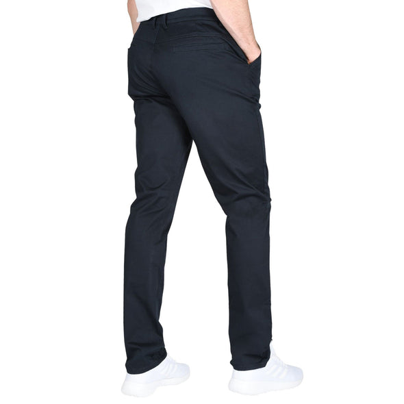 Carman TAPERED FIT Polished Chinos in Dark Navy