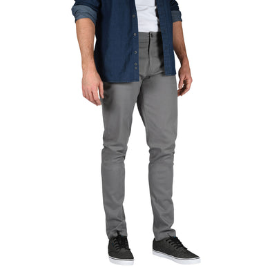 Carman TAPERED FIT Mens Tall Pants in Charcoal