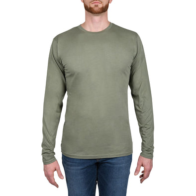 Garment Dyed REGULAR-FIT Long Sleeve Crew (Pre-Shrunk) | Army Green