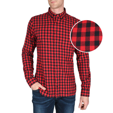 mens-red-check-flannel-shirt