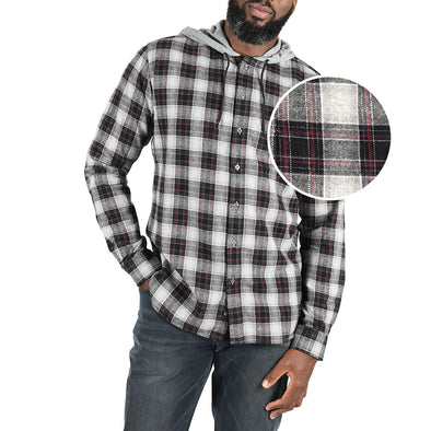 mens-black-hooded-flannel-shirt