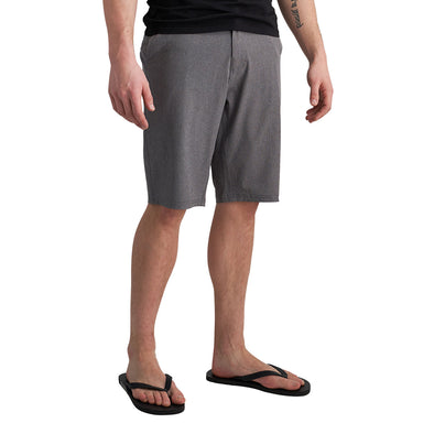 Tall Men's Hybrid Shorts in Charcoal Khaki Mix