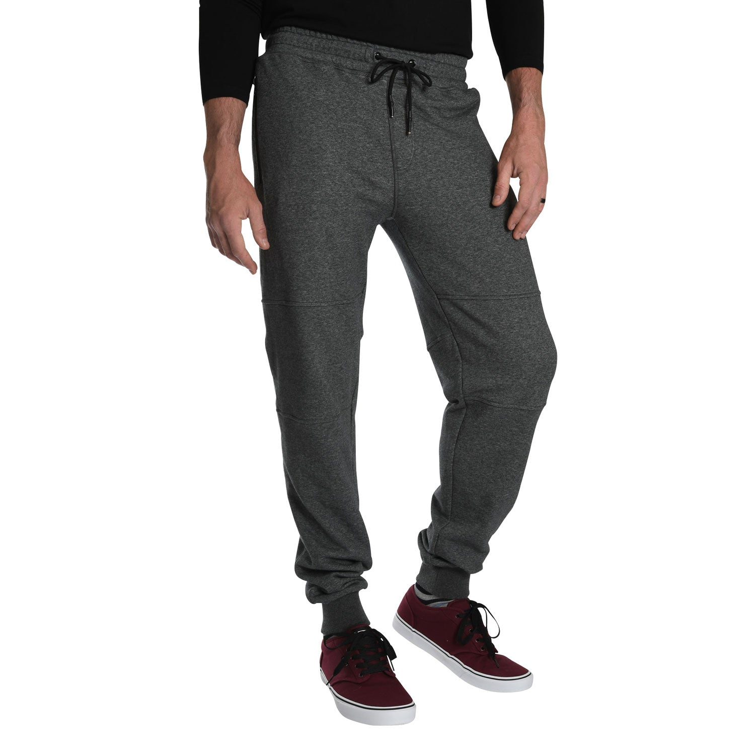 highly coveted range of fashionable patterns rational construction Tall Men's French Terry Jogger Sweats in Charcoal Mix -