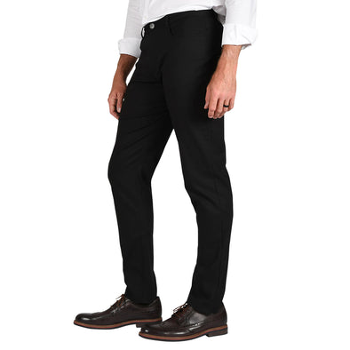 The Logan TAPERED FIT Crossover Pant in Black