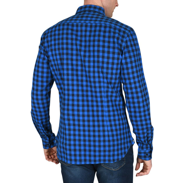 tall-mens-heavy-flannel-shirt-blue-check-back