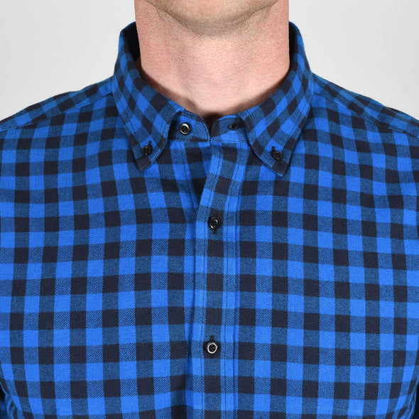 blue-check-flannel-shirt-collar