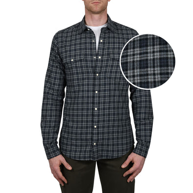 tall-mens-button-down-shirt-heather-grey-plaid