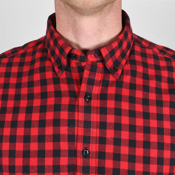 mens-red-check-flannel-shirt-collar