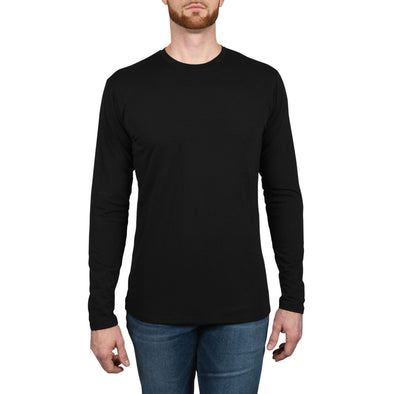 The Tri-Blend: Long Sleeve Tall Tees | Black