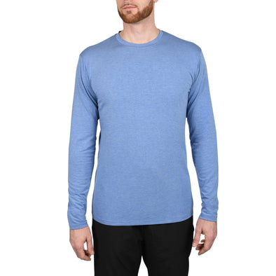 The Tri-Blend: Long Sleeve Tall Tees | Ocean Blue