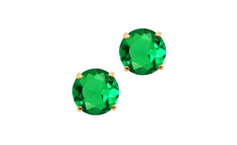 14k Yellow Gold Green Genuine Diamond 1/2 Carat Sl1 Earrings