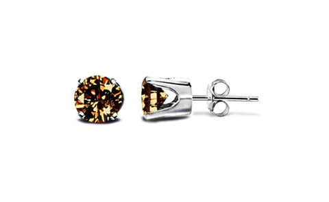 14K White Gold Genuine Brown Diamond 1/2 ct Sl1