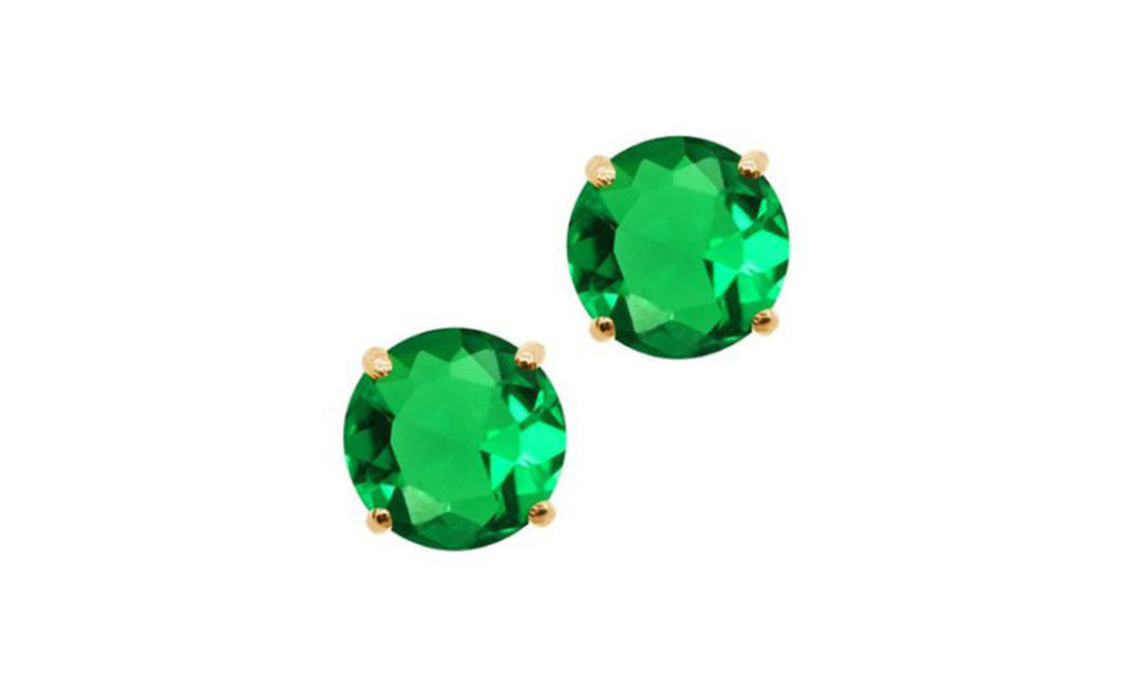 14k Yellow Gold Green Genuine Diamond 1/4 Carat Sl1 Earrings