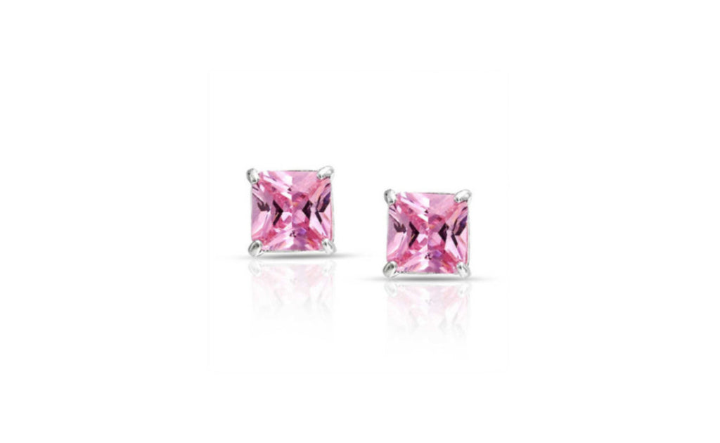 18k White Gold Cubic Zirconia Stud Earring Vs1