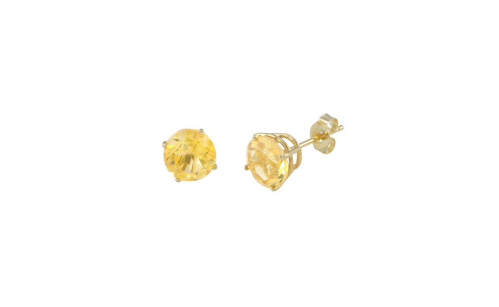 14K Solid Yellow Gold Genuine 1/2 Ct Yellow Diamond Sl1