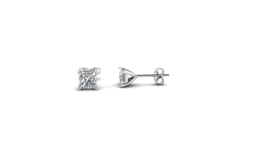 Platinum Over Sterling Silver 1ct White Sapphire Vs1 Earrings