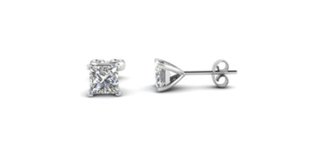 Heavy 10k White Gold Over Sterling Silver 1ct White Sapphire