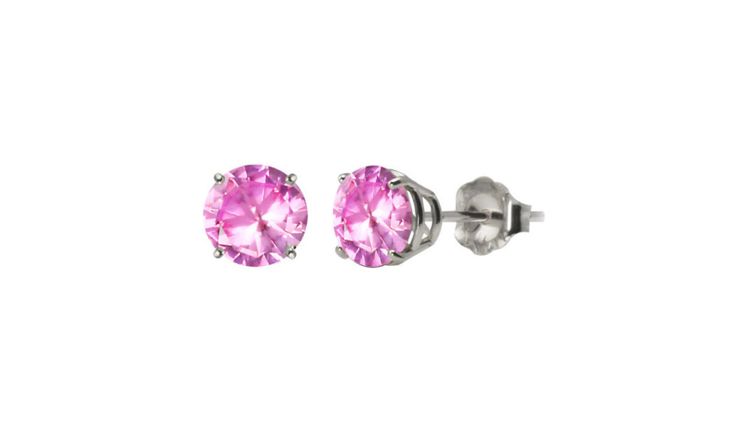 Platinum Over Sterling Silver 1/2ct Simulated Diamond Earrings