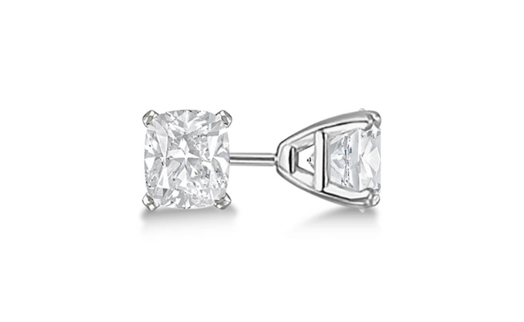 Platinum Over Sterling Silver Cubic Zirconia Gemstone Earrings