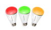 Smart LED lightbulb with 16.8 million colours controlled by an app