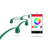 Smart LED string light with 16.8 million colours controlled by an app