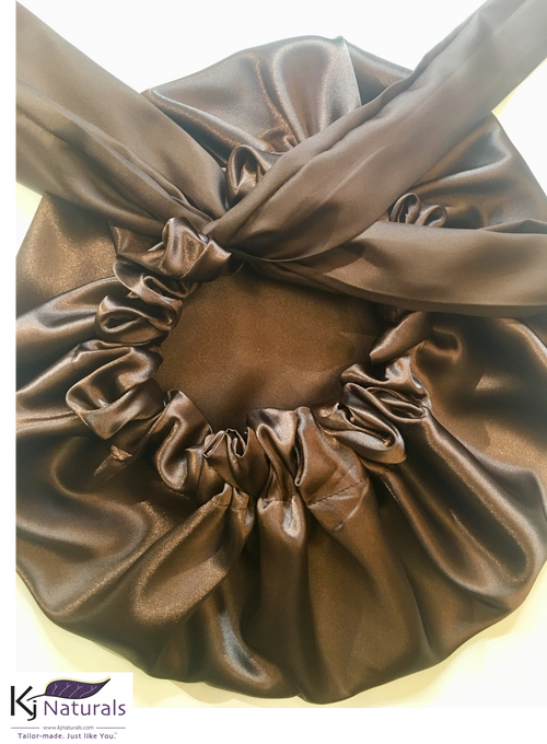 Chocolate Satin Sleep Bonnet