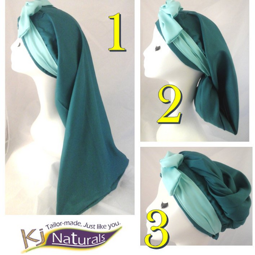Teal Extra Long Sleep Cap