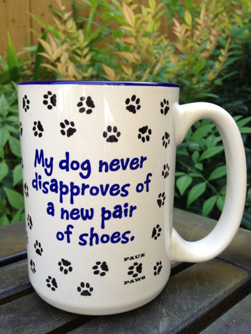 Dogs Love Shoes - 15 oz Coffee Mug