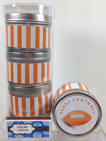 UT Football Inspired - Set of 3 - 4 oz candles