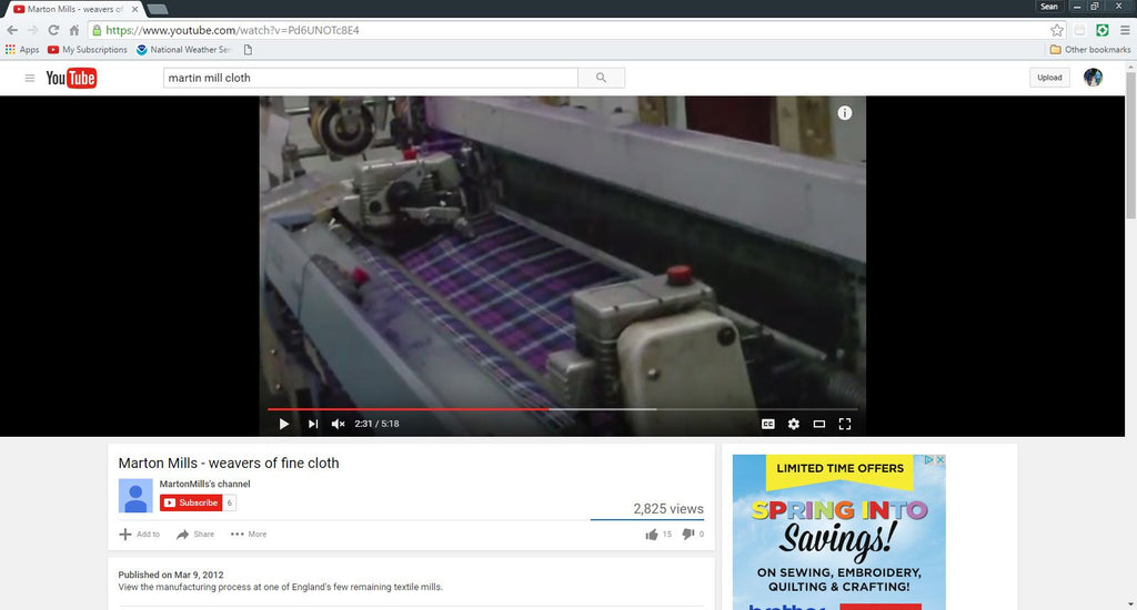 Blog #27   YouTube from one of our UK Tartan Suppliers