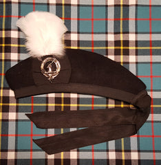 Glengarry with White Plume and Clan Badge